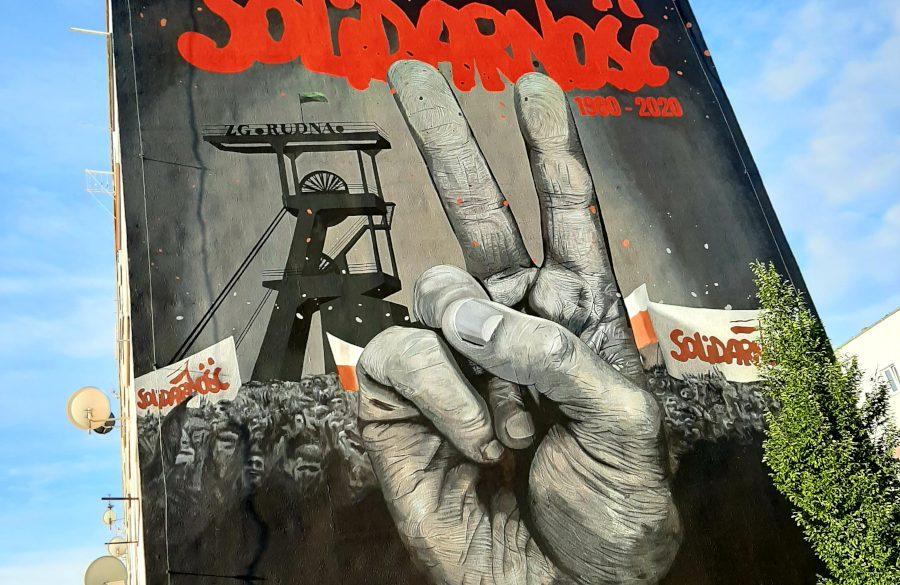 """Mural """"Dziękujemy za Solidarność"""""""