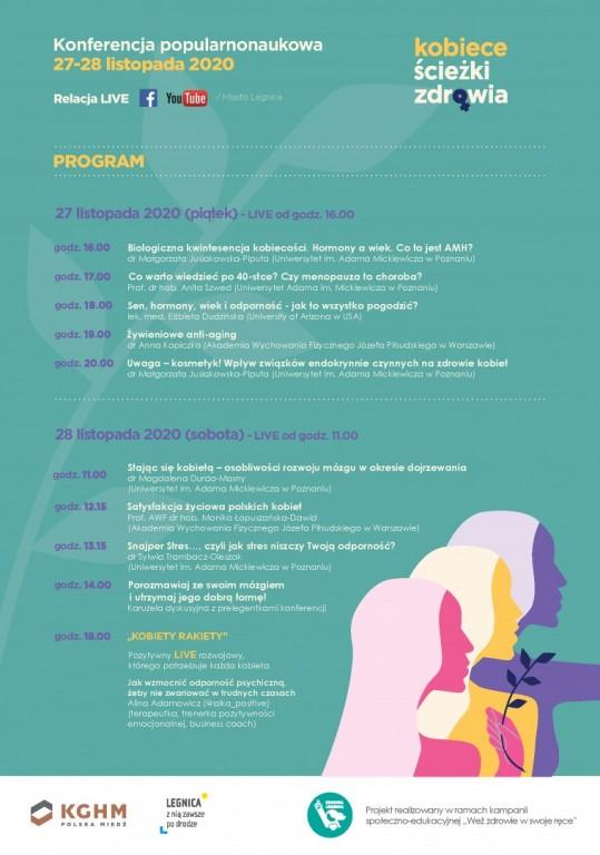 """Konferencja naukowa """"Kobiece ścieżki zdrowia"""" program"""