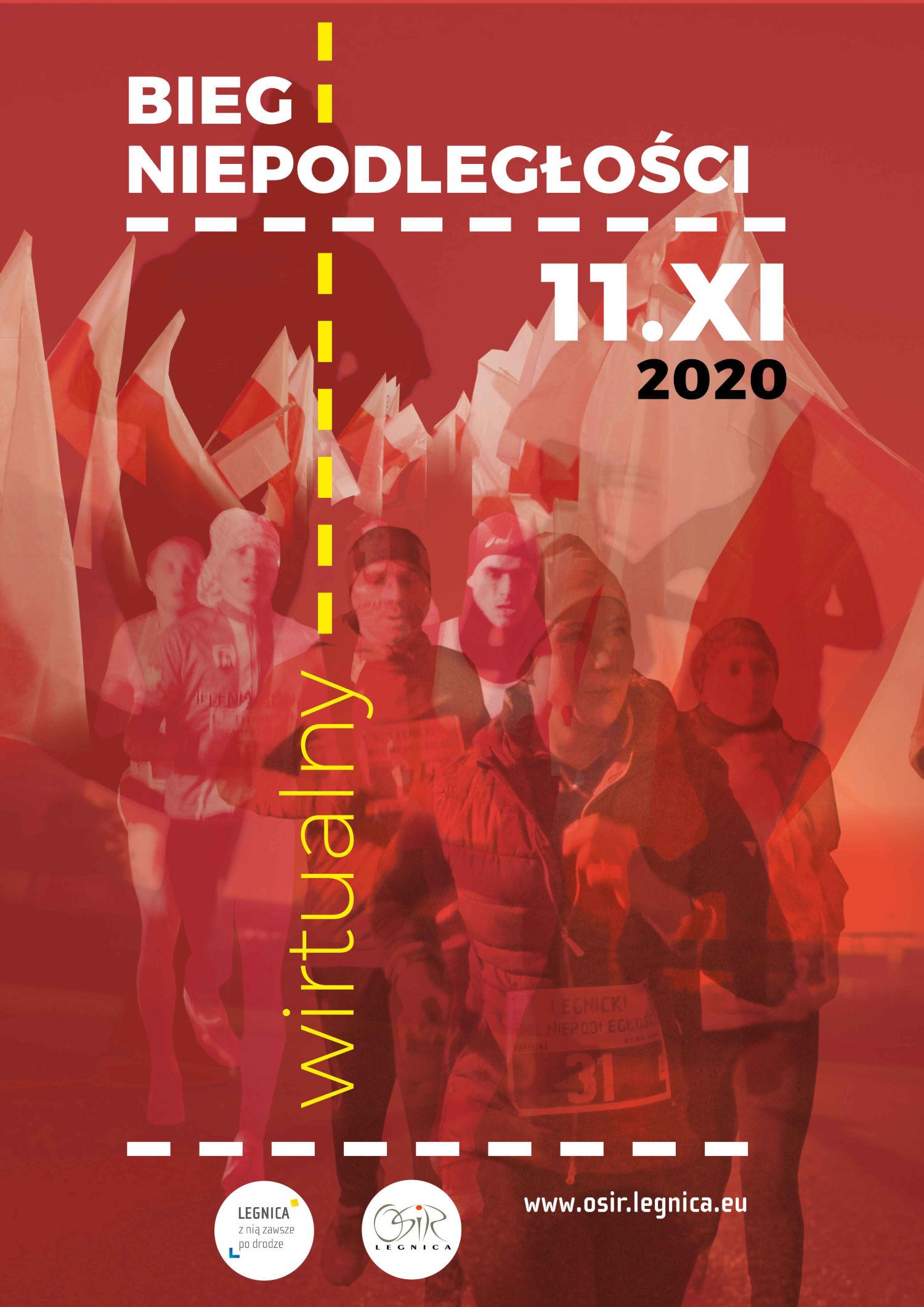 wirtualny Legnicki Bieg Niepodległości - plakat biegu