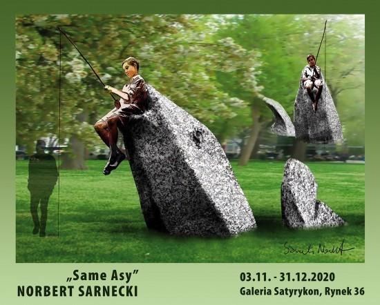Rzeźby Norberta Sarneckiego w Galerii Satyrykon. Obejrzyj je online